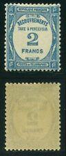 "FRANCE TAXE N° 61  "" TYPOGRAPHIE 2F BLEU 1927-31 ""  NEUF XX TTB"