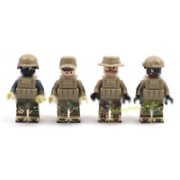 4pcs Military Soldier Figures Model Building Blocks Army Men Toys Bricks Gifts