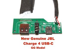 New Genuine Jbl Charge 4 Micro Usb C AUX Charging Port original part replacement