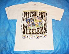 New listing Vintage Pittsburgh Steelers Upper Deck Football Cards T Shirt Nfl Size Large