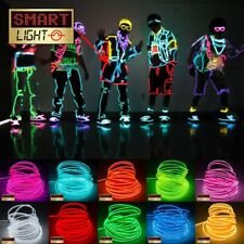 2.3mm EL Wire Neon Glow LED Strip/String/Light Cosplay Halloween Party Costume