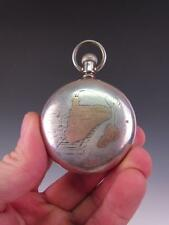 ANTIQUE 1800s RAILROAD MT. HOPE POCKET WATCH, NICOLET & LAIDLAW, FALL RIVER,MA