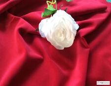 Burdeos / Rojo Vino Algodón Color Terciopelo para Confección -240Gsm - 112cm