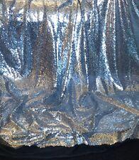 "1 Meter Silver/Black Sequin Fabric Bridal dress decorations fabric 58"" Mesh Net"