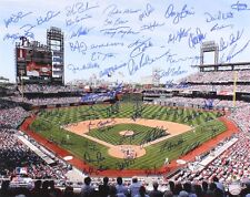 PHILLIES 16x20 SIGNED BY 55 w/BOONE JACKSON REED HAYES DAVIS HOLLAND BEDROSIAN +