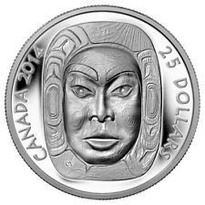 2014 $25 1oz .9999% PURE SILVER  MATRIARCH MOON MASK ULTRA HIGH RELIEF