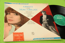 JULIETTE GRECO LP CHANTE MAC ORLAN ORIG FRANCE '60 LAMINATED COVER