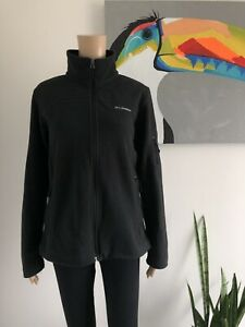 Columbia Black Women's Fast Trek II Full Zip Soft Fleece Jacket Size Medium