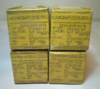 Vintage Hughes Aircraft Parts 4 Boxes Nut Self Locking 25 Per Package 1960