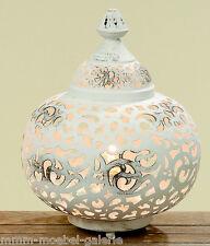 Orient Tischlampe Bodenlampe Leuchte Lampe Metall Antik Look weiß