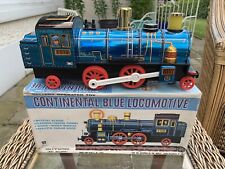 Continental Blue Locomotive Tin Plate Battery Operated Masudaya Train Boxed 4018
