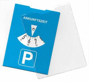 Europa Parkscheibe Menge wählbar 1-100-1000 Parkuhr Benzinrechner Schutzhülle