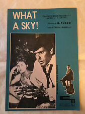SPARTITO MUSICALE WHAT A SKY G. NICO FIDENCO DAL FILM I DELFINI 1961
