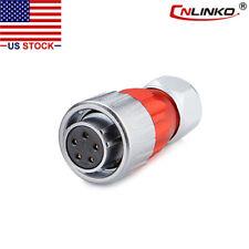 5 Pin Power Circular Connector Female Plug Outdoor Waterproof Ip67 Meta M20