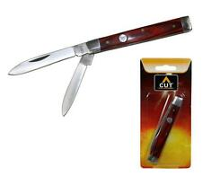 """CUT Cutlery 3.25"""" Doctor's Pocket Knife Wood Handle NEW CT1007"""
