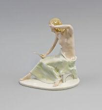 Porzellanfigur Dame Akt mit Spiegel Ens H18,5cm 9941623