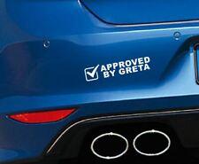 Aufkleber APPROVED BY GRETA Autoaufkleber Tuning Umwelt Sticker bomb Feinstaub