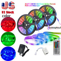 49ft Flexible 3528 RGB LED SMD Strip Light Remote Fairy Lights Room TV Party Bar