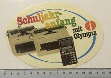 Aufkleber/Sticker: Olympia Schreibmaschine - Taschenrechner (020316125)
