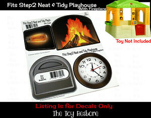 Replacement Stickers fits Step 2 Happy Home Playhouse Decals Step2 Fireplace