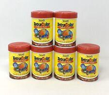 6-Pk Tetra Tropical Fish Color Enhancer Natural Health Food Flake Home Aquarium