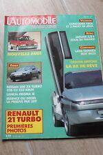 L'automobile N°482 Nissan 300 ZX Turbo.Lada Samara / Ibiza 1200.Lancia Prisma ie