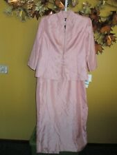 NWT JESSICA HOWARD PINK Mauve Maxi Evening Dress & Jacket Mother of the Bride 16