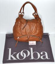 Kooba Brown Soft Faux Leather Rose Gold Hardware Shoulder Bag w/ Storage Bag