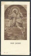 Andachtsbild antiken de Santiago Apostol santino holy card image pieuse