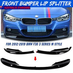 For 2012-18 BMW F30 3 Series Sedan M Sport Bumper Performance Front Lip Splitter