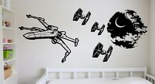 Star Wars Giant X Wing Tie Fighter Death Star Vinyl Sticker Wall Art Decal Mural