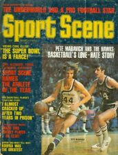 1972 Sport Scene Magazine: Pete Maravich - Atlanta Hawks/Carl Eller Super Bowl