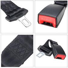 2X Seat belt extenders 25cm/9.84inch Extender Extension 2.1cm Buckle - BLACK