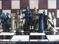 Brand New ♚  Weighted Roman Design Chess Pieces Set ♞