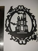 Haunted House Die Cuts,Card Making, 6 pieces topper Halloween