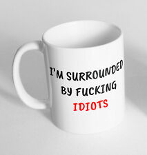 I'm Surrounded By F Design Printed Cup Ceramic Novelty Mug Funny Gift Coffee Tea