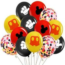 Mickey Mouse Balloon 12pcs Latex & Confetti Party Decoration Premium Quality