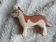 Retired Holztiger sheepdog dog BNWTS wooden toy figure 80358