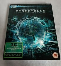 Prometheus (3D Blu-ray, 2012) 3 disc collectors edition.