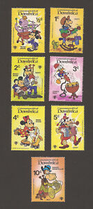 Dominica Scott #644-650 Set of 7 Disney Characters MNH