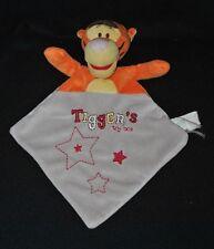 Peluche doudou tigrou plat DISNEY BABY NICOTOY Tigger's toy box gris étoile TTBE