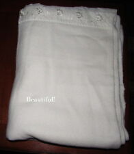 """Vintage Acrylic White Blanket Soft 2"""" Floral Reversible Binding Twin Size 67x85"""