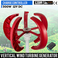 300W 12V Lanterns Wind Turbine Generator  Vertical Axis Fastship Clean Energy
