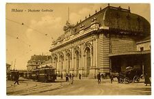Milan Italy -SIDE VIEW OF CENTRAL STATION- Postcard Milano Stazione Centrale