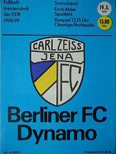 Programm 1978/79 FC Carl Zeiss Jena - BFC Dynamo