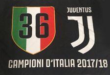 Bandiera Gigante Juventus originale 36 campioni  ufficiale nera juve 133X96