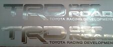 TOYOTA TRD 4X4 Off Road, brushed chrome decal Sticker tundra tacoma (set)