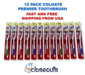 Colgate Premier Extra Clean Toothbrush MEDIUM BRISTLES Pack of 12 Ships From U.S