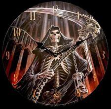 Wall Clock Final Verdict - Anne Stokes - Skull Reaper Watch Fantasy Gothic