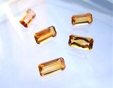Citrin  Baguette Rechteck Achteck  10 x 5 mm gelb orange ca 1,45 Carat